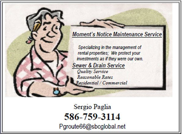 Moment's Notice Maintenance Service