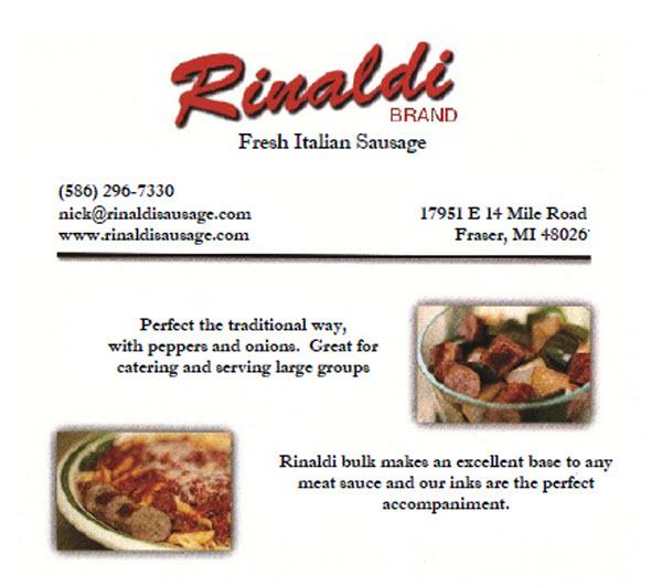 Rinaldi Fresh Italian Sausage