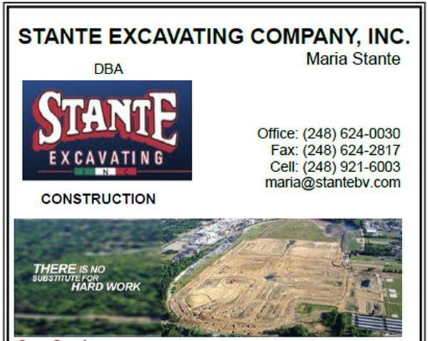 Stante Excavating