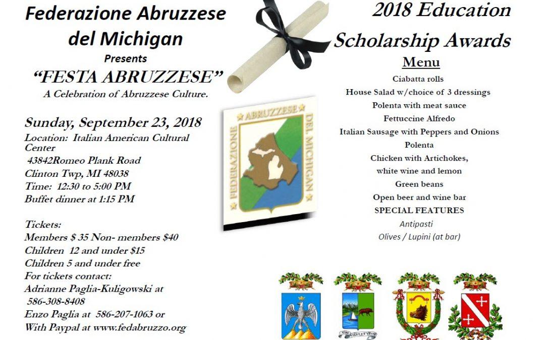 Festa Abruzzese / Scholarship Awards