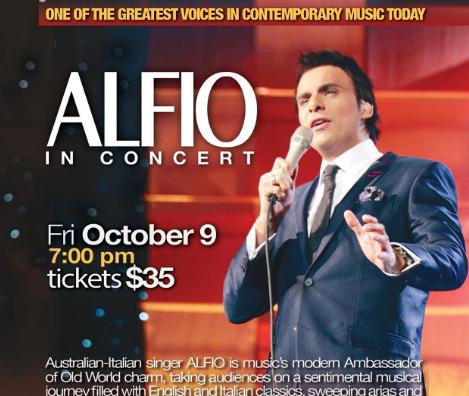 Italian-Australian singer ALFIO