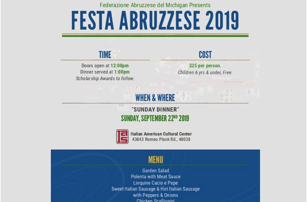 Festa Abruzzese 2019