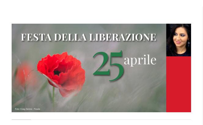25 APRILE: FESTA DELLA LIBERAZIONE – OGGI, COME ALLORA